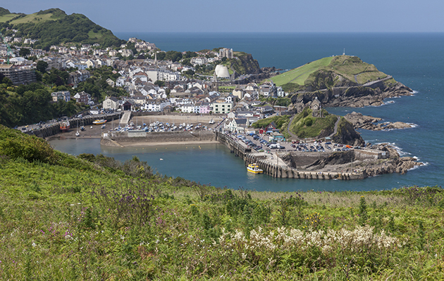 Ilfracombe is a drying harbour at low water, although boats can anchor off. Credit: Getty