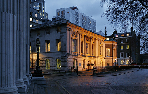 Trinity House in London lit up at night