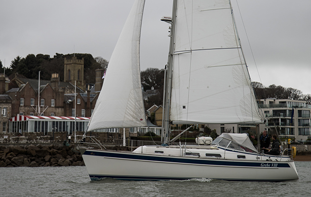 a yacht sailing in Cowes