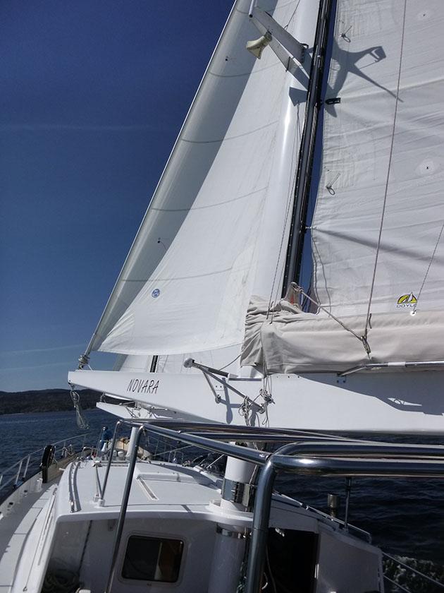 AeroRig on a yacht