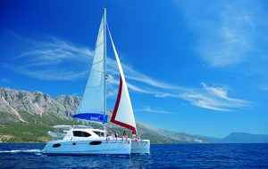 a charter yacht in Greece