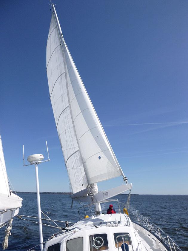 A schooner with an AeroRig
