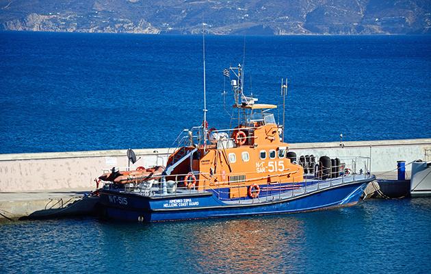 Hellenic coastguard boat