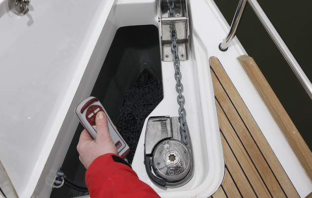 Windlass on a Bavaria 42 Vision yacht