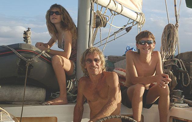 A family aboard a yacht