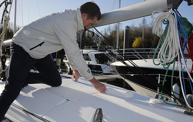 Calcul de la stabilité de votre yacht - vous devrez marquer la ligne médiane du bateau
