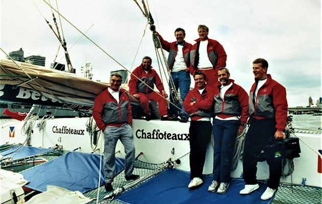 The crew of Chaffoteaux in New York