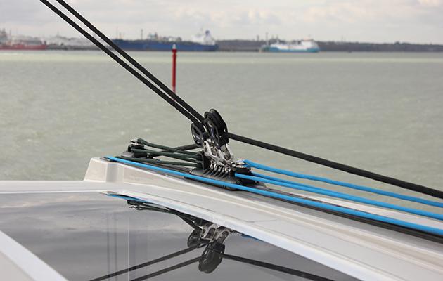 Piste de voyageur sur un catamaran