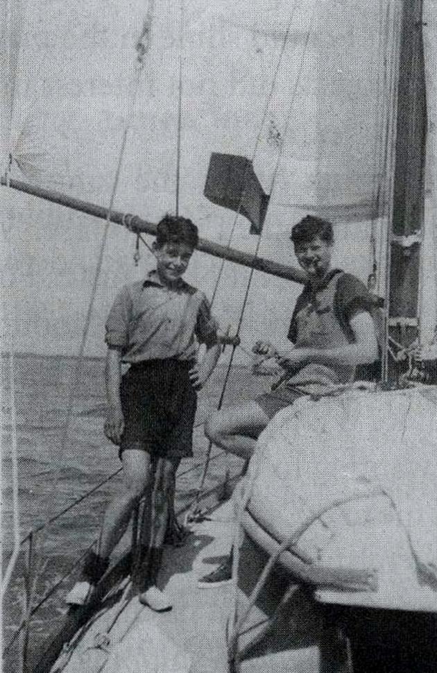 Dag Pike sailing as a teenager