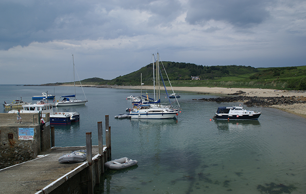 Boats moored at Hern Harbour