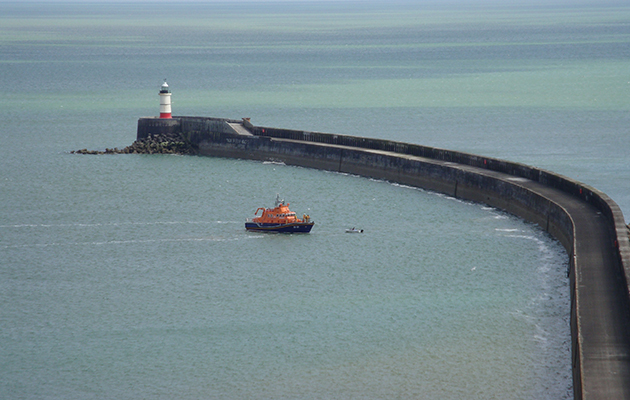 The breakwater at Newhaven