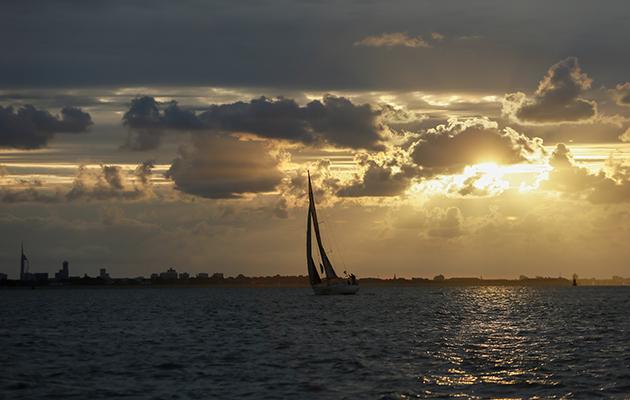 Un yacht sur le Solent