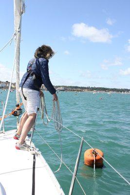 Lassoing a buoy