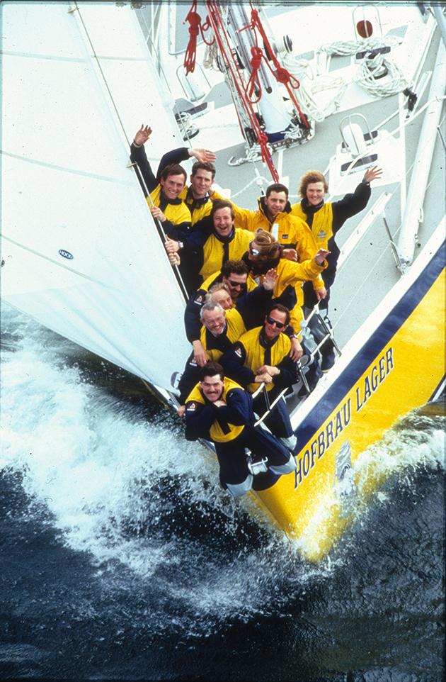 L'équipage du British Steel Challenge skippé par Pete Goss