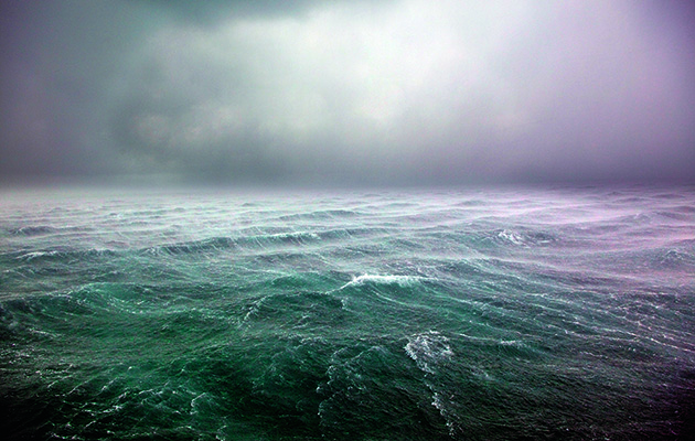 A thunderstorm at sea