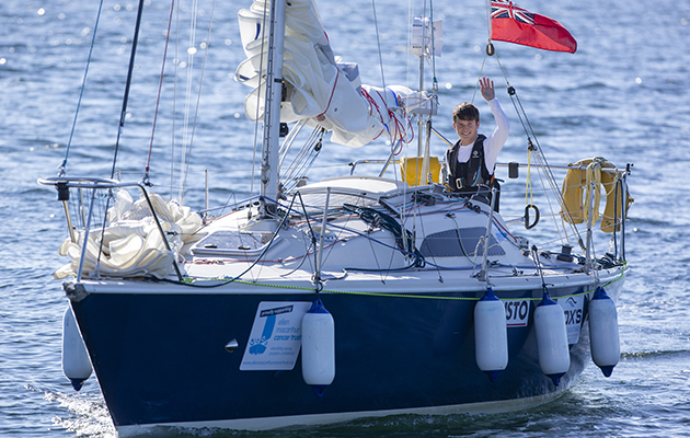 Timothy has been sailing since the age of nine and has his sights set on a Vendée Globe campaign. Credit: Marc Turner/Ellen MacArthur Cancer Trust