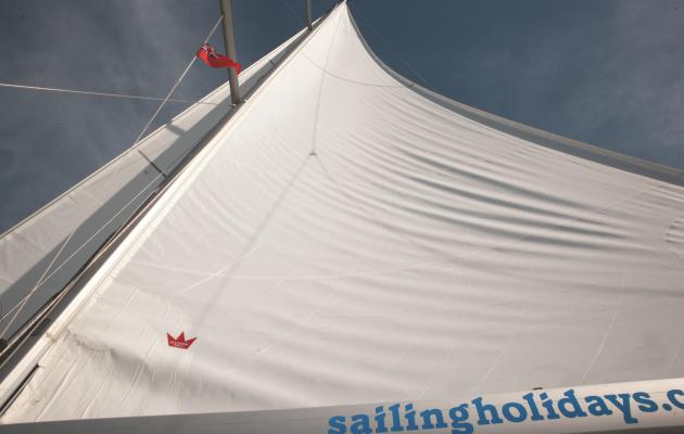 A baggy sail