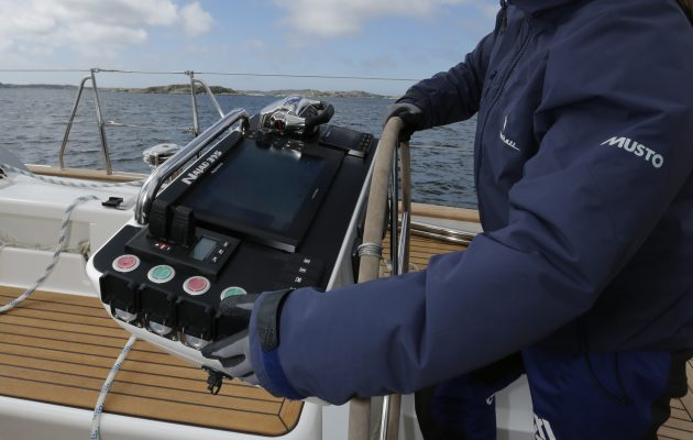 Electric winch control systems at the helm