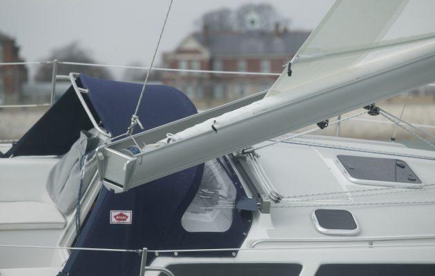 Boom on a yacht