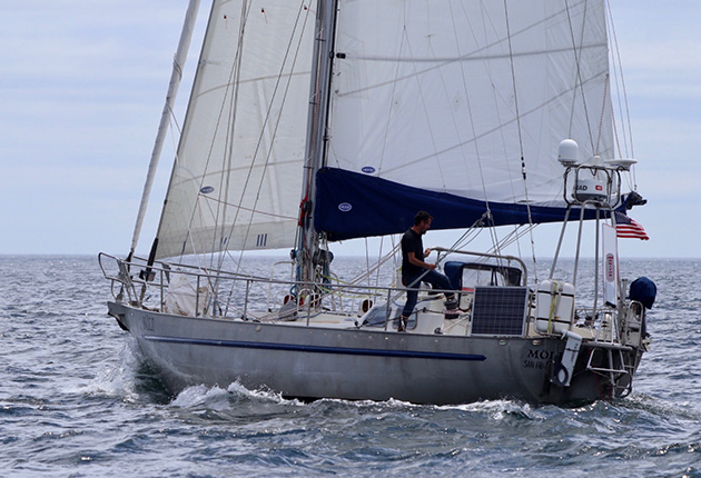 45ft expedition sloop Moli, which has been designed for sailing in the high latitudes