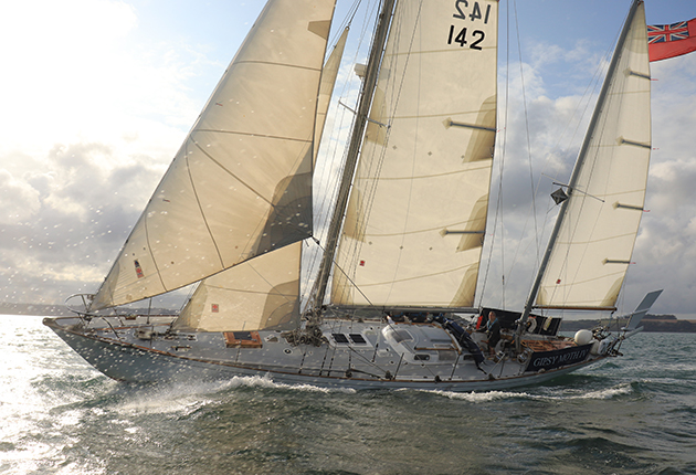 Gipsy Moth IV during the 2019 Fastnet 2019