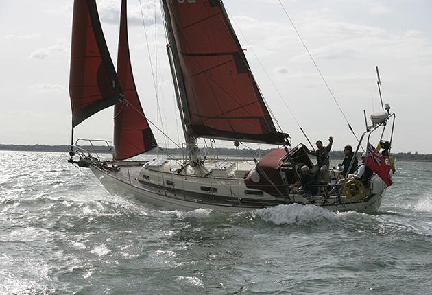 A Victoria 34 sailing