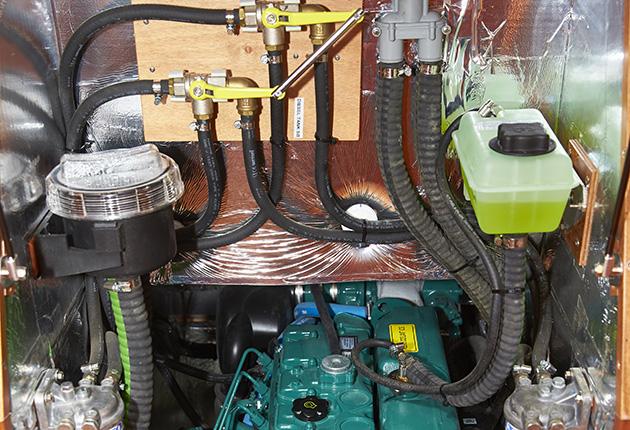 Engine on a Faurby 460E