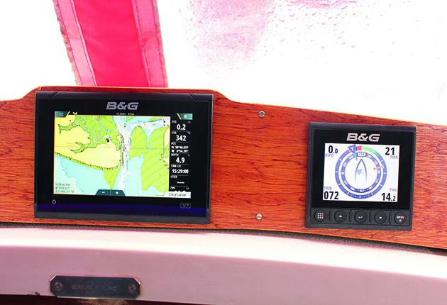 Chartplotter sur un yacht