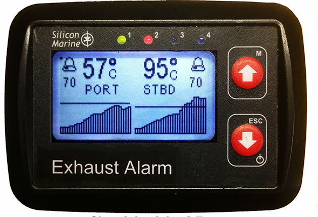 Une alarme d'échappement pour un yacht