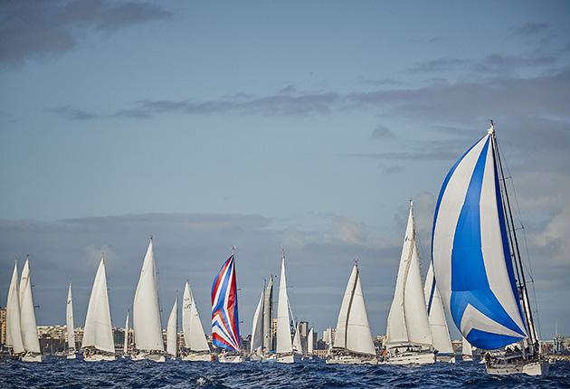 The ARC fleet leaving the Canary Islands