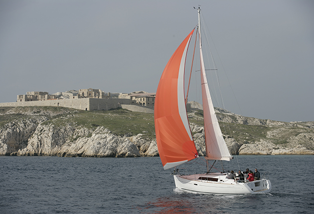 A yacht sailing in France. Sailors should keep proof of VAT paid on board