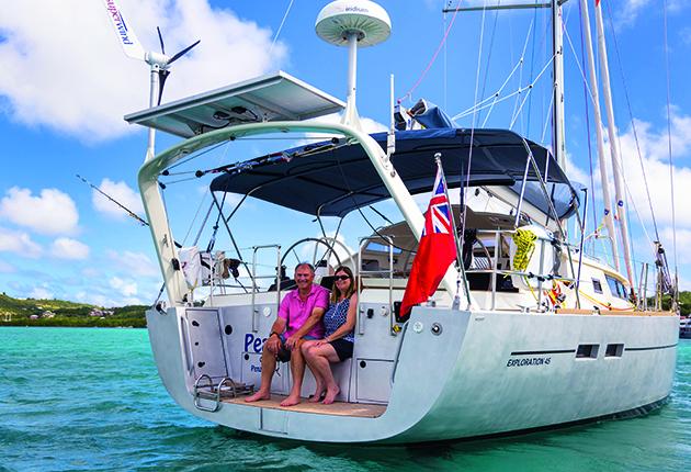 Pete et Tracey Goss ont navigué dans les Caraïbes et aux États-Unis