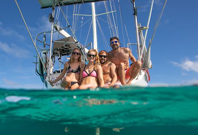 Les quatre membres d'équipage du 53 pieds Amel Super Maramu, SV Delos