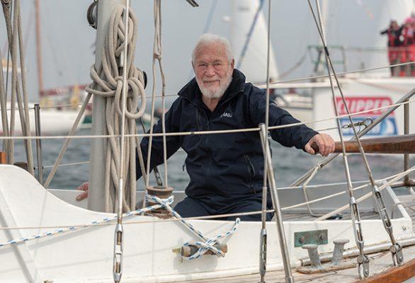Sir Robin Knox-Johnston, who backed remaining in the EU, believes the future of Britain's cruising sailors is threatened by the Schengen 90 day limit. Credit: Shaun Roster/Clipper Race