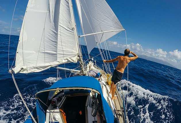 Thom D'Arcy has been cruising around the world on his Vancouver 28, Fathom