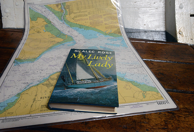 The book My Lively Lady on a chart