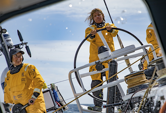 Leg 3, Cape Town to Melbourne, day 10, on board Turn the Tide on Plastic. Photo by Jeremie Lecaudey/Volvo Ocean Race. 19 December, 2017.