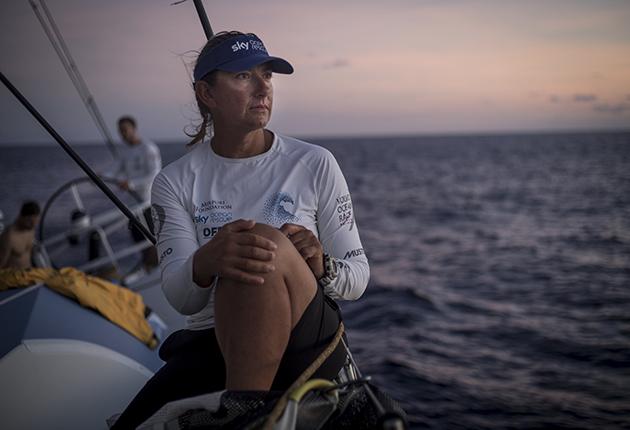 Dee Caffari during the Volvo Ocean Race
