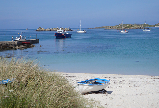 Old Grimsby, north east of Tresco in the summer