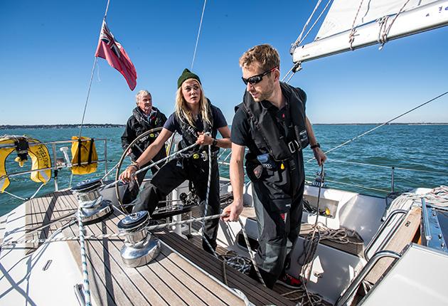 Crew on a yacht