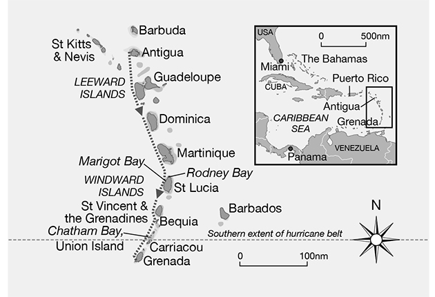 A chart of the caribbean