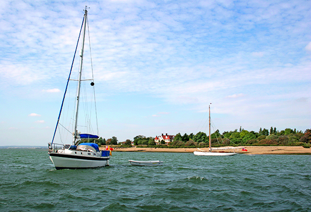 Osea Island on the Blackwater in the summer