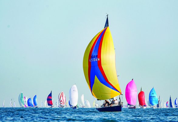 Boats taking part in Round the Island Race