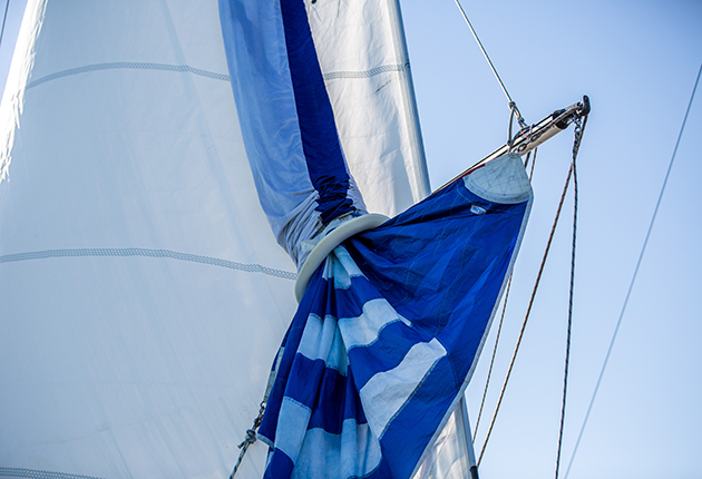 A snuffer being used on a spinnaker