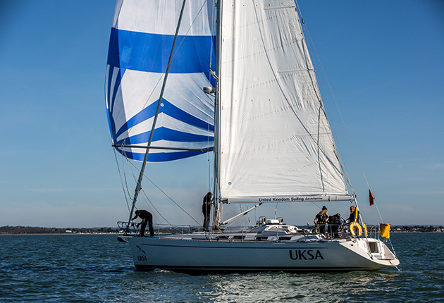 A yacht sailing on the solent