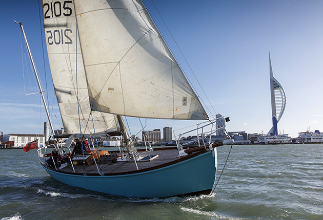 Lively Lady sailing outside Portsmouth