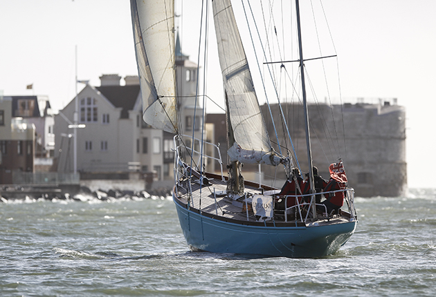 Lively Lady sailing off Portsmouth
