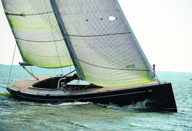 The Greenboats Flax 27 day sailer