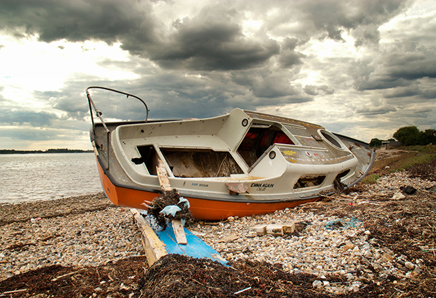 The high cost of disposal often means it is cheaper to abandon GRP boats.