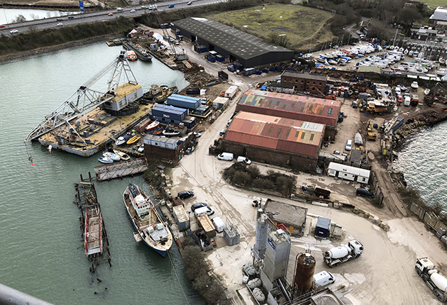 The Boatbreakers' yard in Portsmouth. Credit: Boatbreakers
